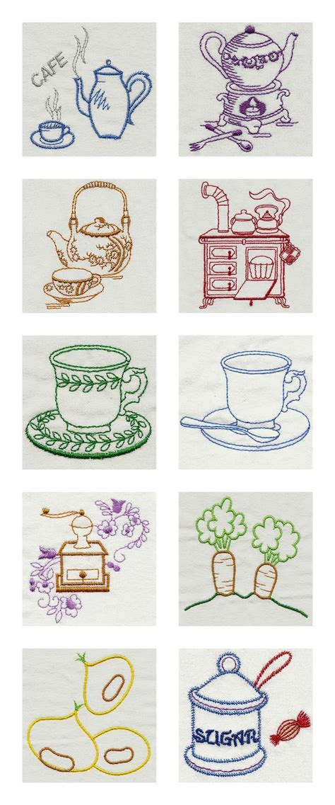 Free Kitchen Embroidery Designs Vintage Kitchen 1 Machine Embroidery Designs Ebay