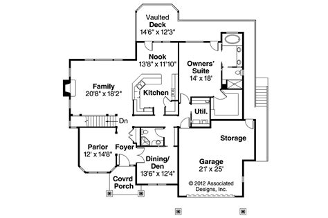 craftsman homes floor plans craftsman house plans worthington 30 594 associated