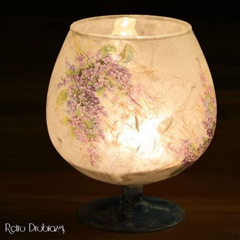 Decoupage Glass Candle Holders - decoupage candle holder decoupage