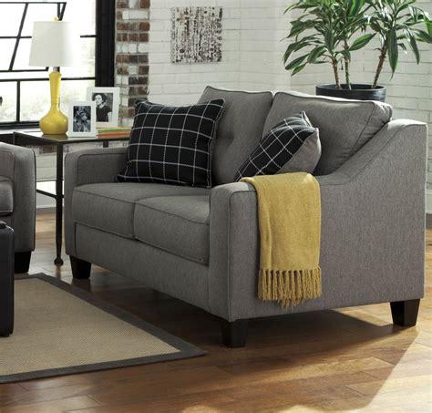 ashley brindon sofa review brindon grey fabric loveseat steal a sofa furniture