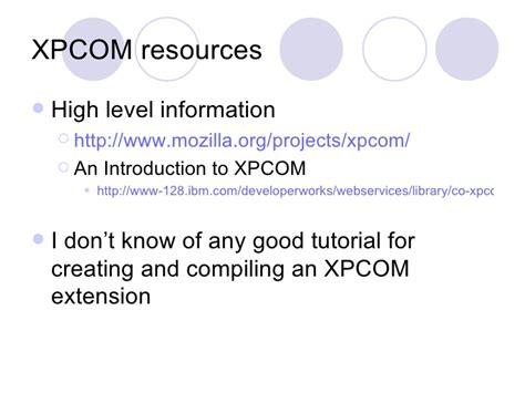 xpcom tutorial javascript plug in architectures