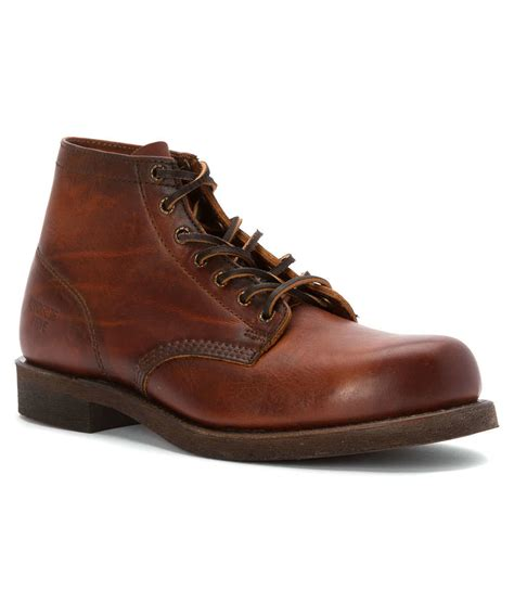 frye s prison boot boots in brown for cognac lyst
