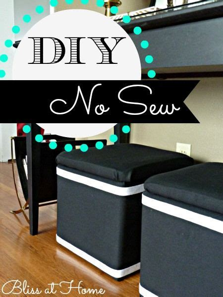 Diy Storage Ottoman Cube Diy No Sew Recovered Storage Cubes