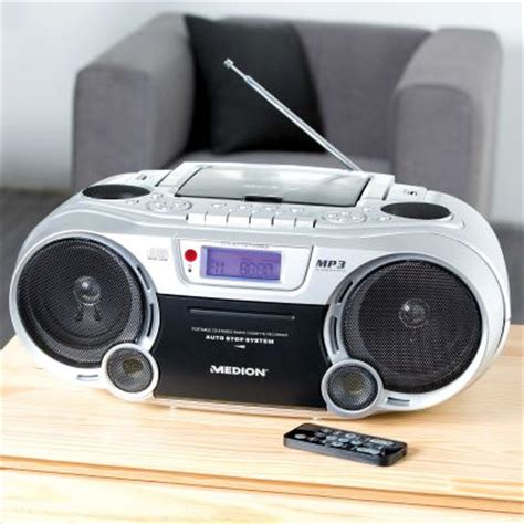 md mp medion life e66232 md 84112 mp3 cd stereo radiorekorder