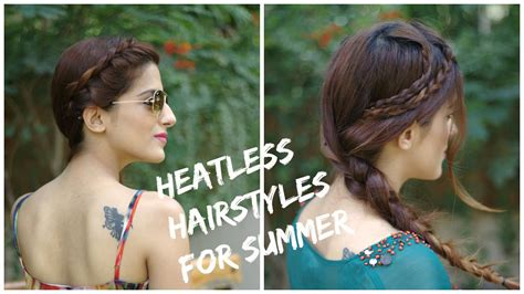 heatless hairstyles for summer 2 cute easy heatless summer hairstyles ways to style