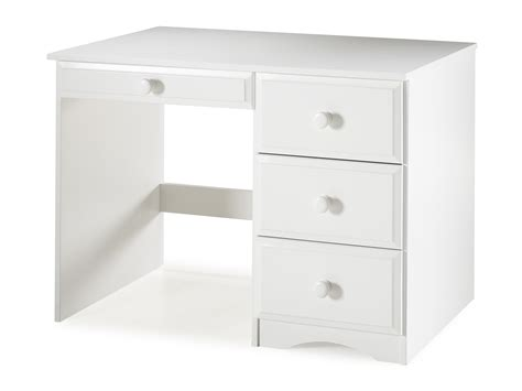 Essentials Writing Desk With Four Drawers White Finish White Writing Desk With Drawers