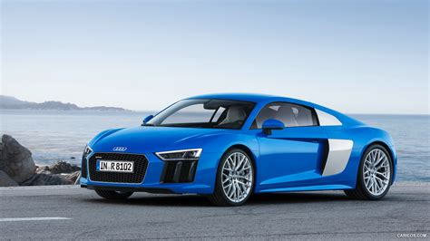 audi r8 wallpaper blue 2016 audi r8 v10 ara blue front hd wallpaper 12