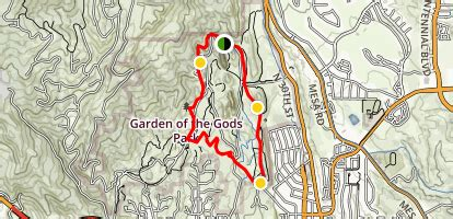 Garden Of The Gods Trail Map by Garden Of The Gods Loop Trail Colorado Maps 248