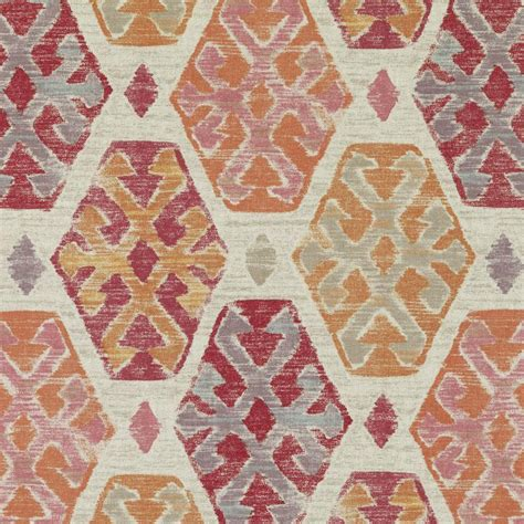 coral ikat curtains coral ikat upholstery fabric large scale orange ikat curtain