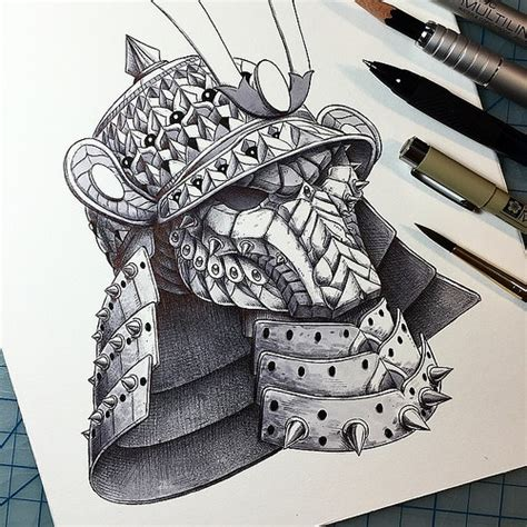helm tattoo design quot samurai helm quot design of a modify predator mask wit