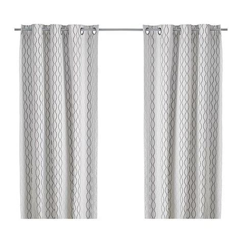 ikea 98 inch curtains henny rand curtains 1 pair white brown gray 98