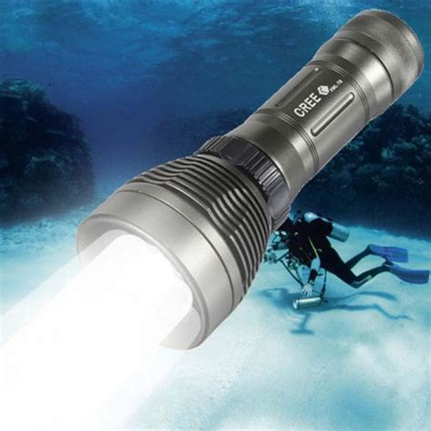 waterproof underwater cree xm l t6 2600lm 8 mode led
