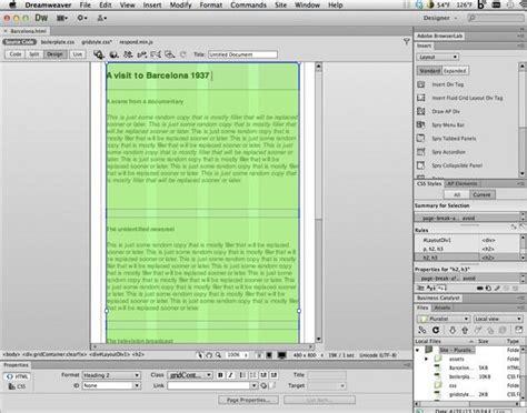dreamweaver tutorial fluid grid adobe dreamweaver cs6 pcmag com