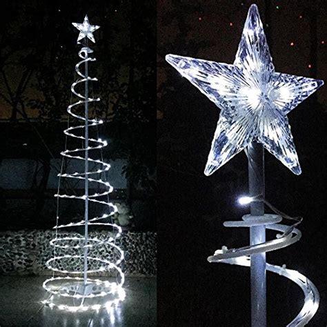yescom ft led spiral christmas tree light cool white
