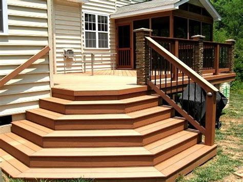 Deck Stairs Design Ideas Deck Stairs Here Are Some Cascading Deck Entry
