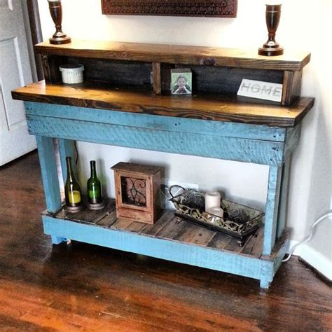 pallet entry table pallet wood side or entry table
