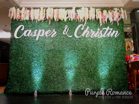 Wedding Backdrop Malaysia by Grass Backdrop Specially Made And Setup For Casper And
