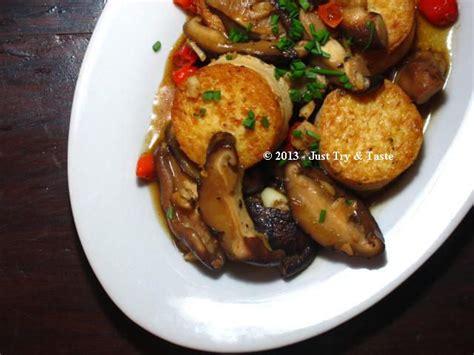 tumis tahu telur  jamur shiitake resep masakan