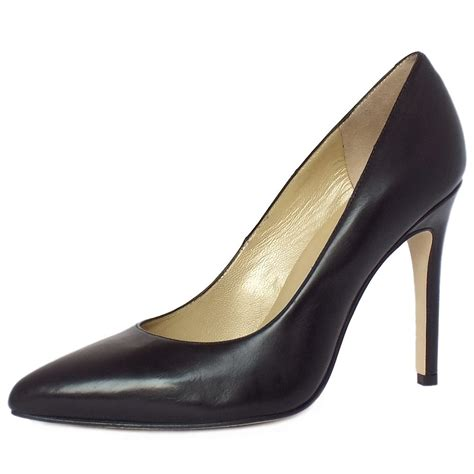 high shoes for kaiser indigo black leather high heel shoes