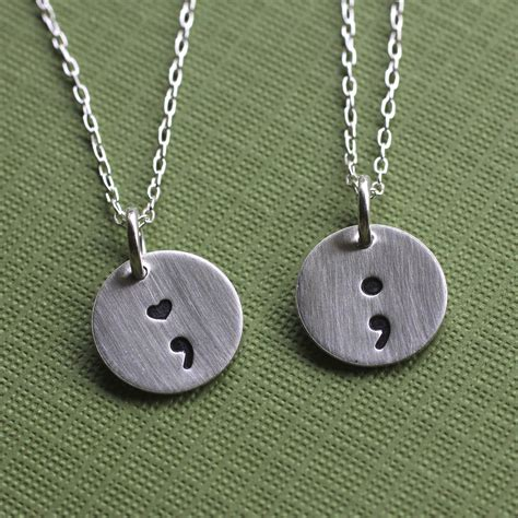 what is jewelry semicolon necklace ourth jewelry