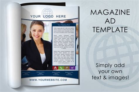 advertising magazine template magazine ad template magazine templates on creative market