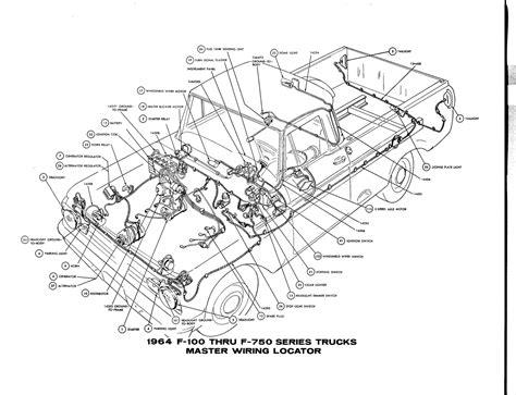 free auto wiring diagram 1964 ford f 100 thru f 750 truck master wiring
