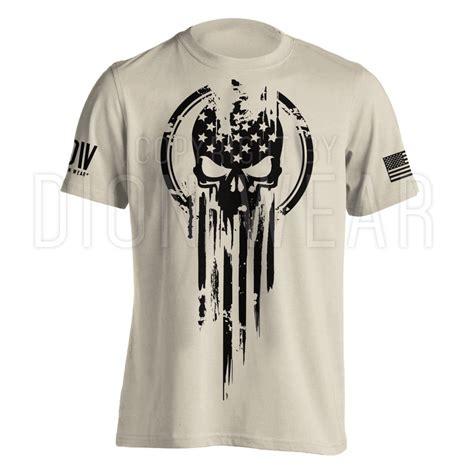 Tshirt Army Sturm american warrior flag skull t shirt army s 3xl ebay
