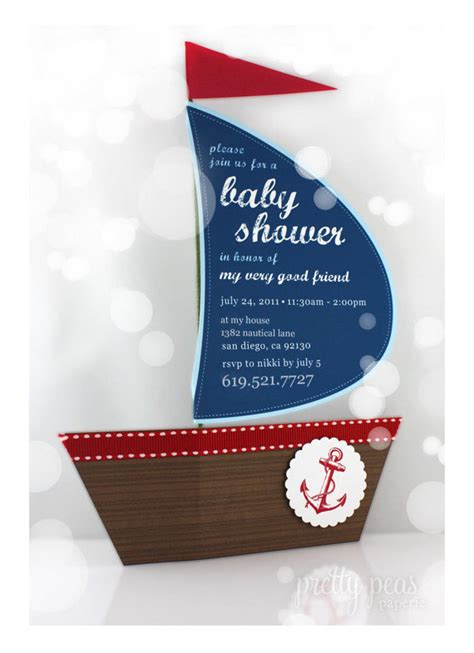 printable nautical invitation items similar to diy nautical baby shower invitation