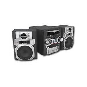 rca rs2764 300w am fm 5 cd shelf stereo system