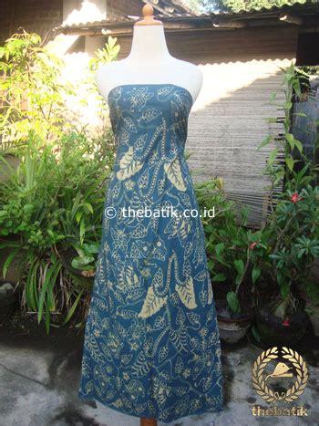 Batik Biru Tua jual batik tulis pewarna alami floral buketan biru tua
