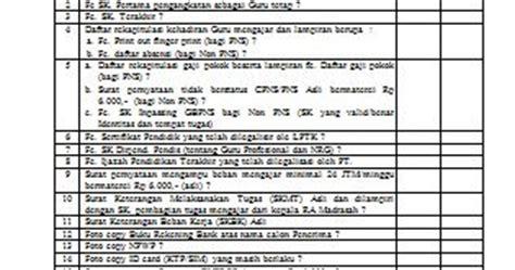 contoh formulir check list verifikasi kelengkapan dokumen