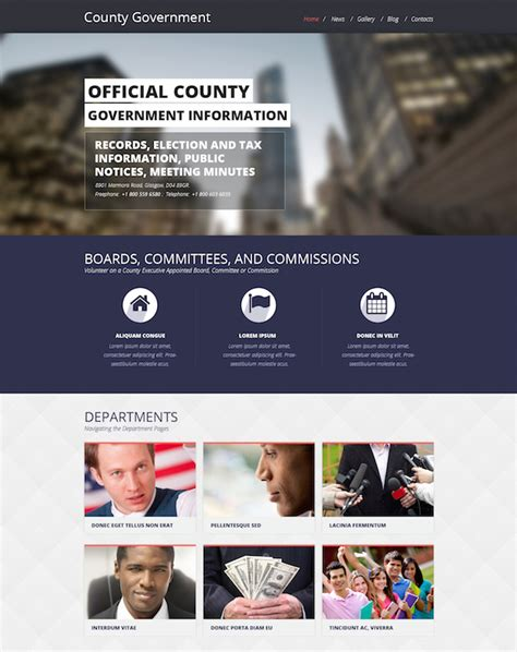 free templates for government website 10 best government agencies wordpress themes 2016