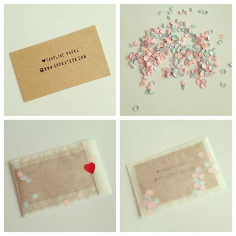 Handmade Visiting Cards - handmade crafty business cards diy burkatron