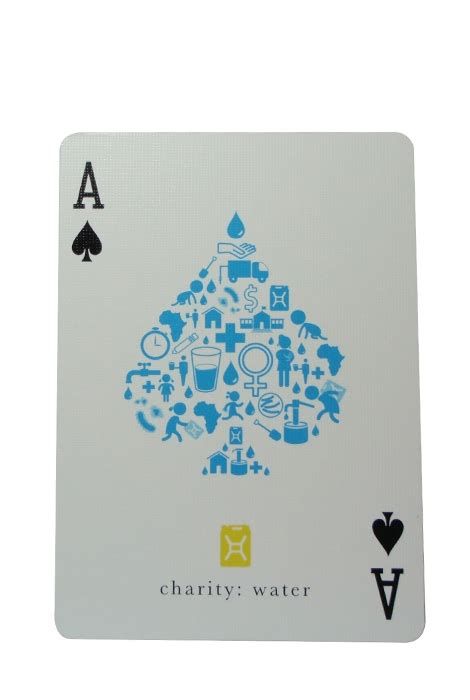 Charity Water Gift Card - buy charity water playing cards capital playing card company australia