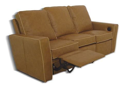 Leather Sofas With Recliners Tuxedo Reclining Leather Sofa