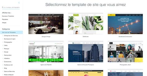 cr 233 er son site 224 l aide d un template
