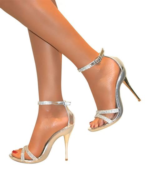 Silver Bridal Heels by Diamante Silver Strappy Ankle Sandals Shoes Heels