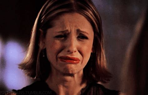 Crying Meme Gif - sad buffy the vire slayer gif find share on giphy