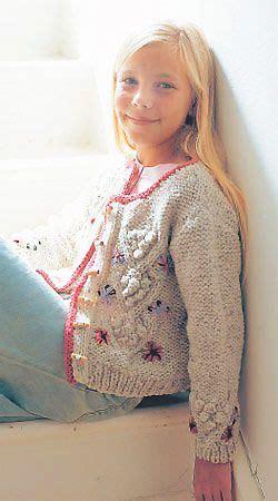 Wst 10259 Flower Knit Cardigan de 126 b 228 sta knitting for bilderna p 229