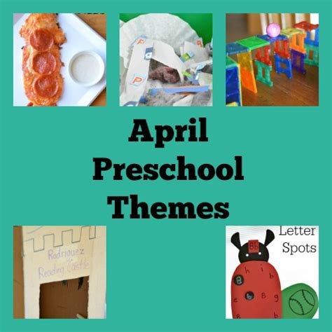 Kindergarten Themes April | themes for preschool playful preschool