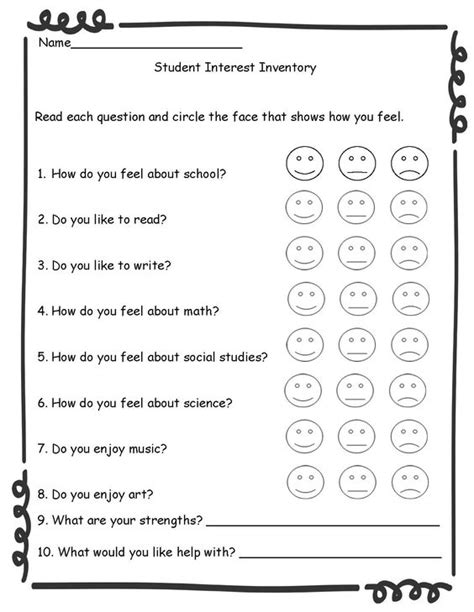 printable career questionnaire for students printable career activities for middle school students