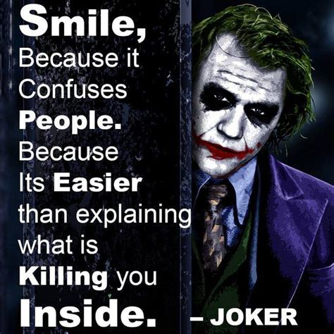movie quotes joker dialogue quot smile because it confuses people quot when is