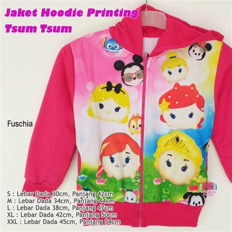 Hoodies Jaket Anak jaket anak hoodie tsum tsum printing magenta room