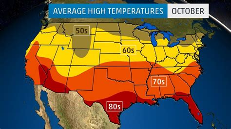 us weather map high temperatures monthly average temperatures weather