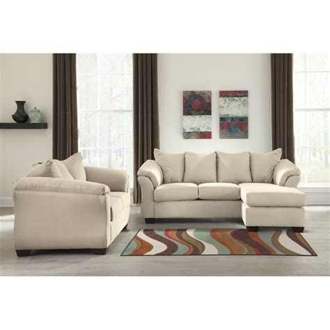ashley darcy sofa ashley darcy 2 piece sofa set in stone 75000 18 35 pkg