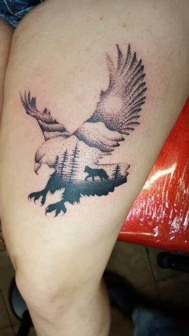 tattoo eagle and wolf my wolf and eagle tattoo tattoos pinterest eagle