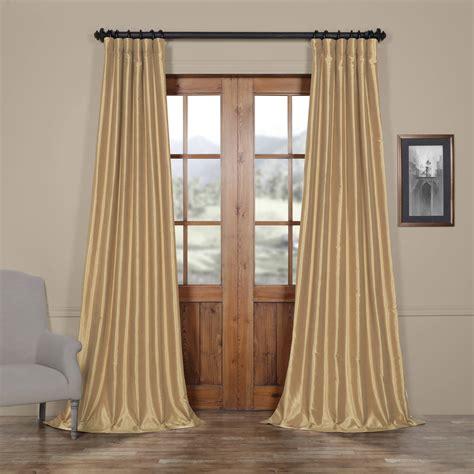 Dupioni Silk Curtains Almond Vintage Textured Faux Dupioni Silk Curtains