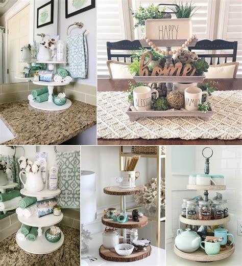 ideas  decorate    tier tray