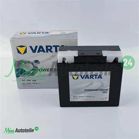 Motorrad Batterie R Ckgabe by Original Varta 519901017 Powersports Gel Motorradbatterie