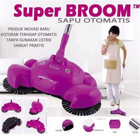 Power Broom Sapu Listrik Otomatis Tanpa Kabel sapu otomatis tanpa listrik lengkap dengan pengki